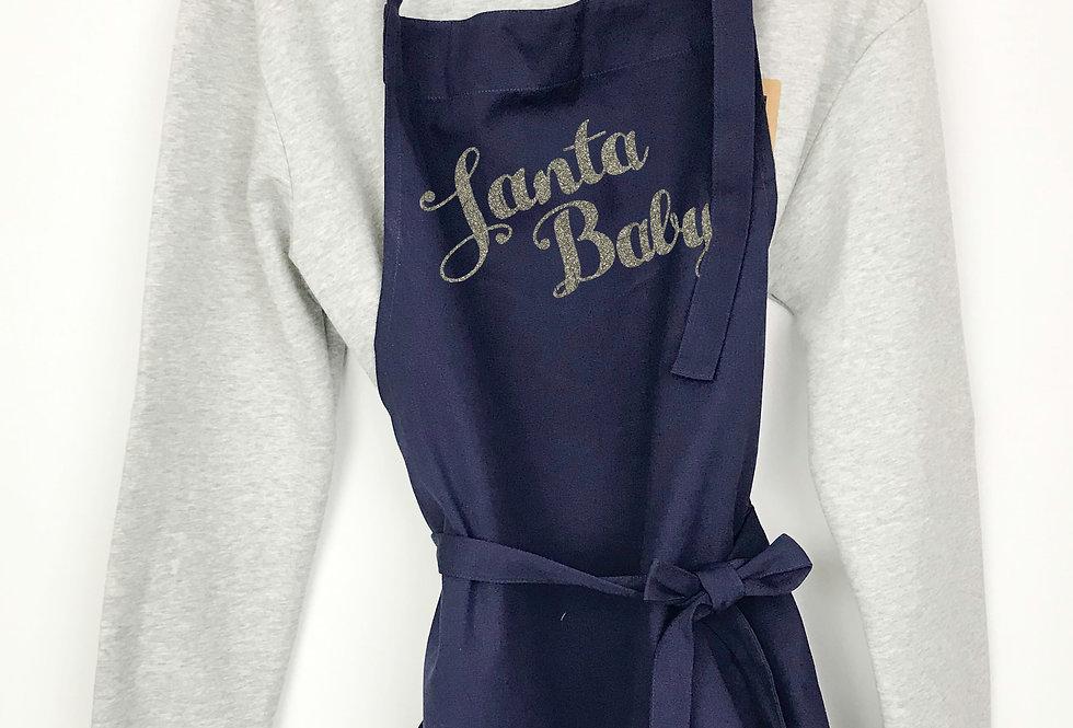 Santa Baby Navy Apron