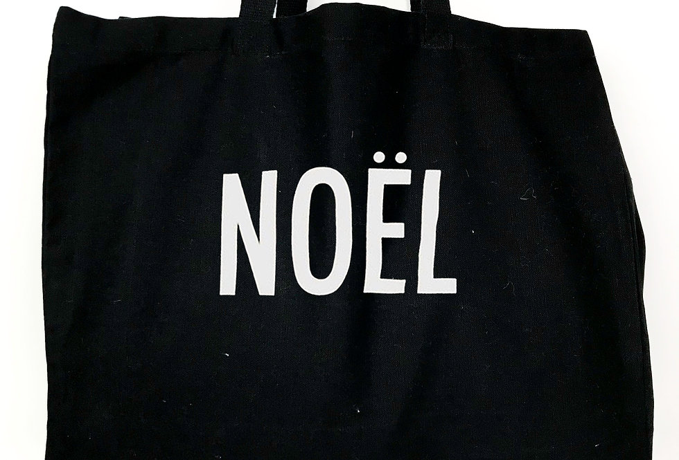 Noel Black Tote Bag