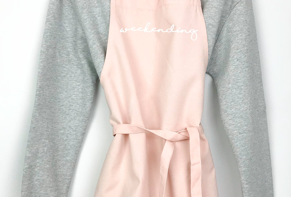 Weekending Pink Apron