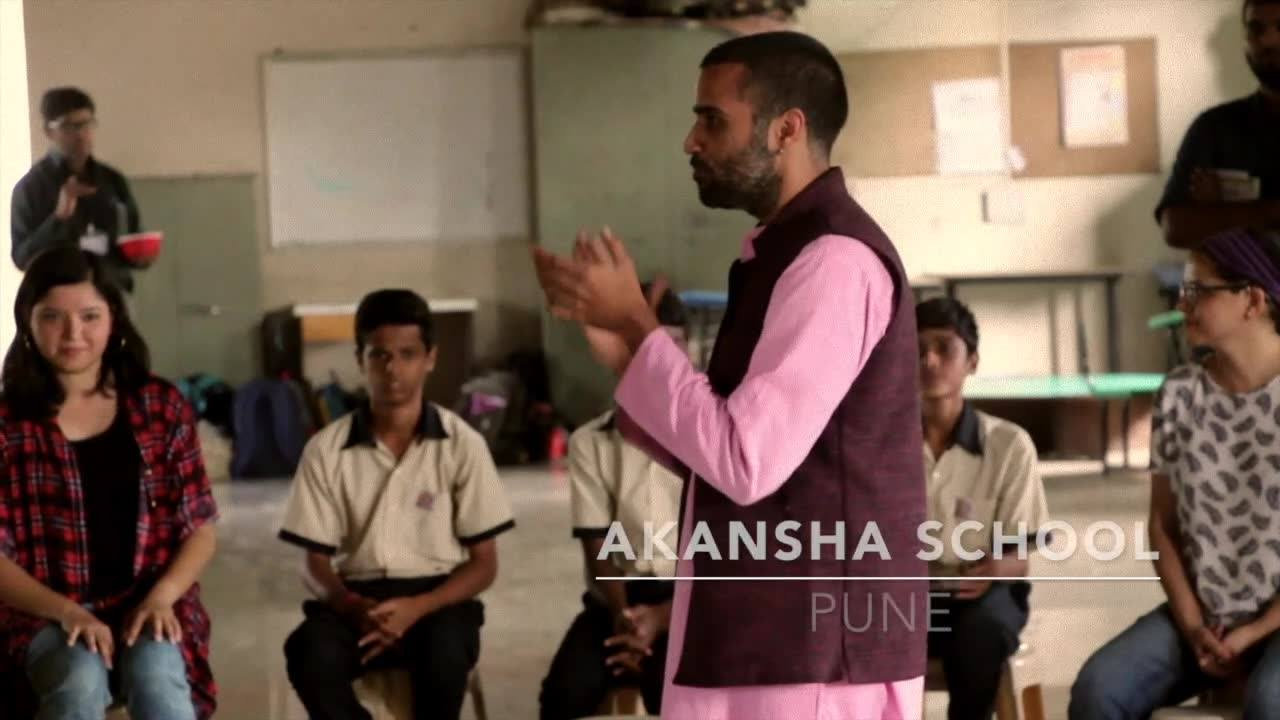 Drum Circle for Akansha Foundation Kids