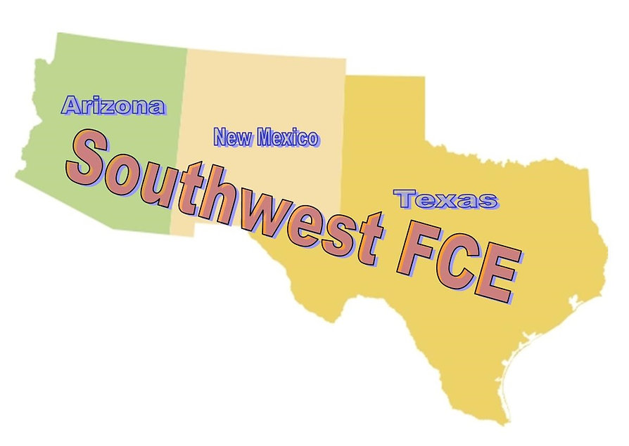 Southwest FCE Map with States - Cropped.