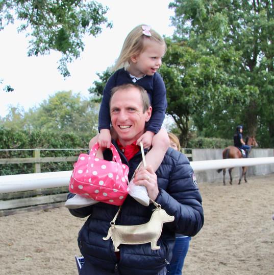 Jamie Codd with his daughter Lottie