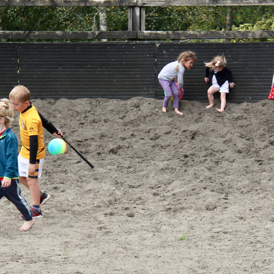 Kids making good use of the sand ring