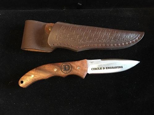 Cattlemans Cutlery Dakota Wood Fixed Blade Knife