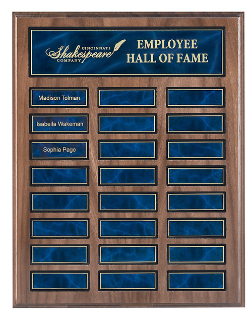 Wood Blue Marble Plaque