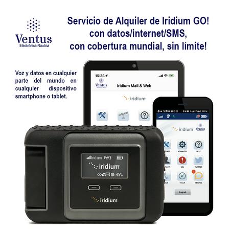 Alquiler de Iridium GO! con datos/Internet/SMS, con cobertura mundial, sin límite!!!