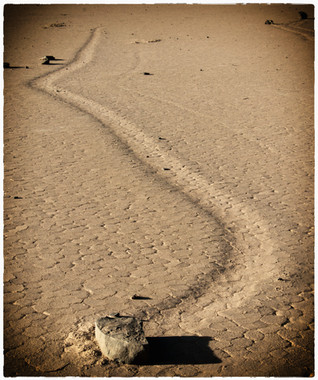 Death Valley - Moving Stone on the Racetrack