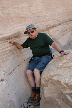 Phil Posing on a Death Valley Rock