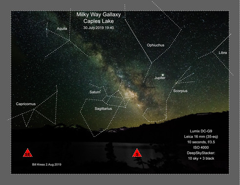 Caples Lake Field Trip - Night Sky