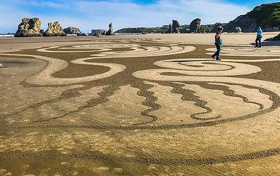 1905-Circles Sand DKress-Bandon-May01-I-