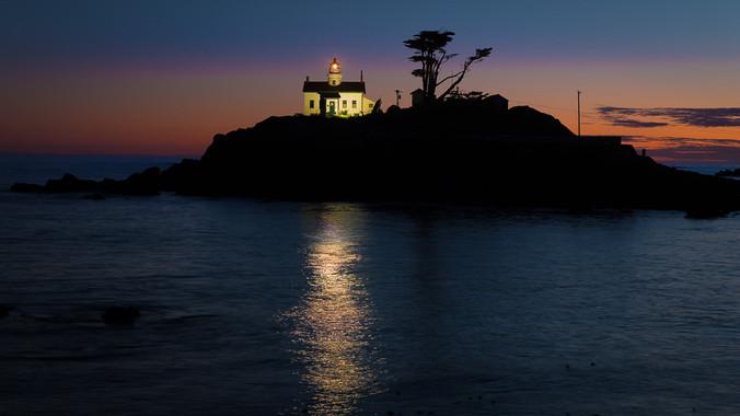 Battery Point Lighthouse at Dusk