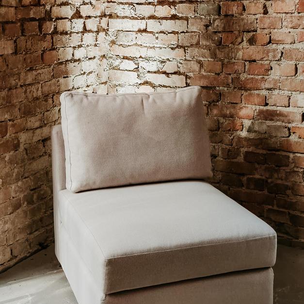 Bijela modularna sofa