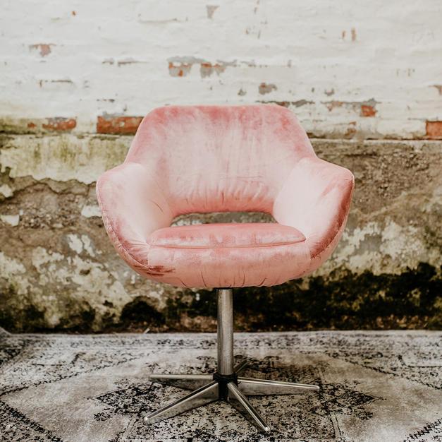 Roza pliš stolica