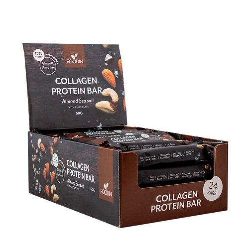 Almond Sea Salt Collagen Protein Bar 50 g x 24