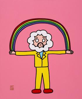 489_Rainbow power_60.6x72.7cm(20호)_acryl