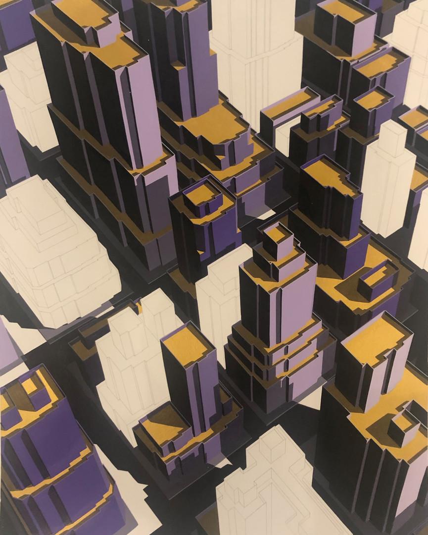 Miguel Angel Iglesias Fernandez 미구엘 앙헬 untitled 2020 Acrylic on paper 44x34cm
