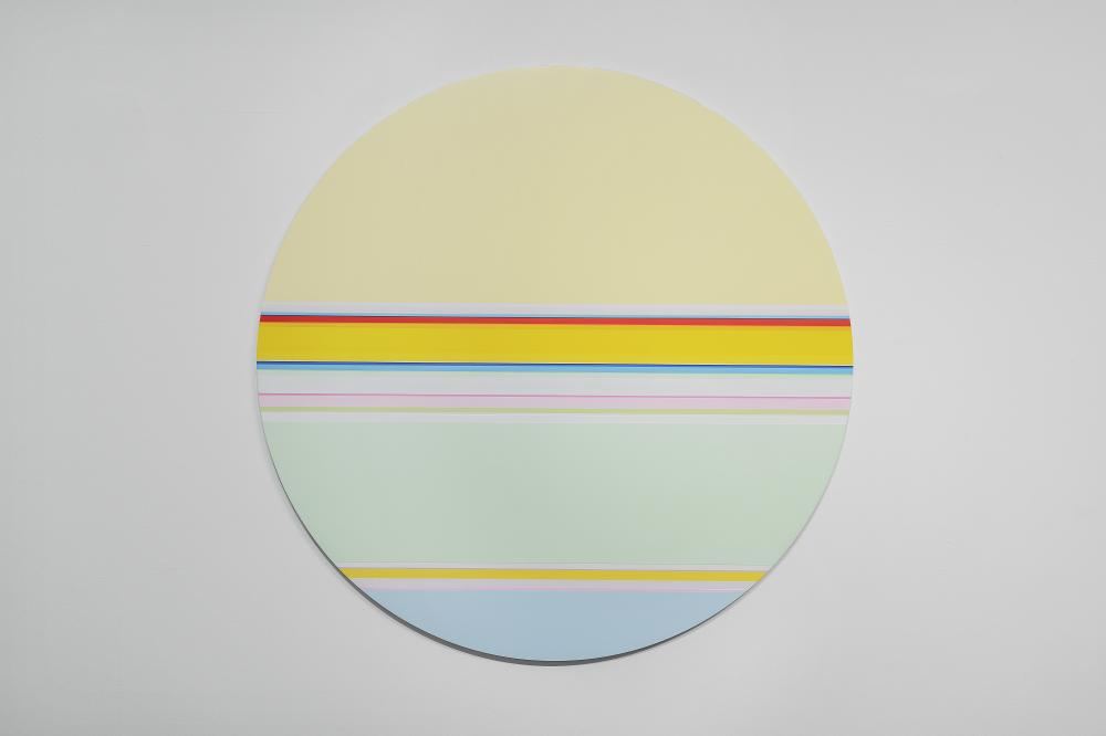 니콜라스 보데 Nicholas Bodde_No. 1464 Circle_Oil & Acrylic, Aluminium_Dm 100 cm_2020