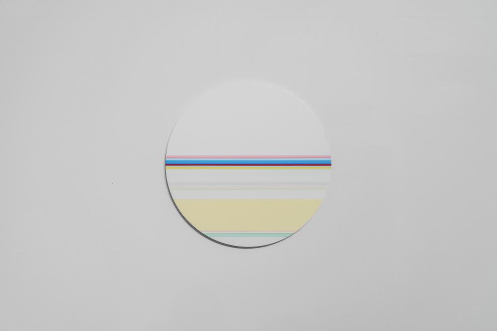 니콜라스 보데 Nicholas Bodde_No. 1164 Circle_Oil & Acrylic, Aluminium_Dm 40 cm_2015-2020