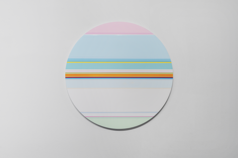 니콜라스 보데 Nicholas Bodde_No. 1459 Circle_Oil & Acrylic, Aluminium_Dm 60 cm_2020