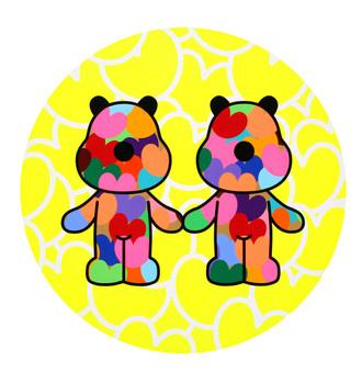 438_Twins_100cm in diameter_acrylic on c