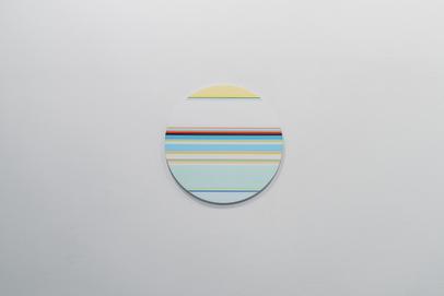 니콜라스 보데 Nicholas Bodde_No. 1462 Circle_Oil & Acrylic Aluminium_Dm 50 cm_2020