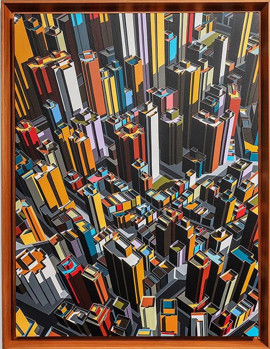 미구엘 앙헬, Orden silenciado, 2019, Acrylic on Canvas, 73x55cm