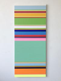 No. 1302 Vertical 2018, 140 x 60 cm, Oil