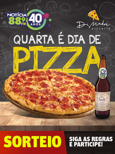 Quarta é dia de Pizza!