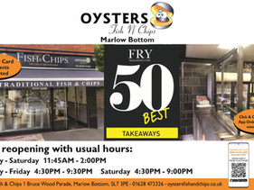 Oyster Fish Bar: Open with usual hours