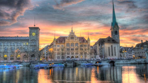 Stadthaus and Limmat (HDR)