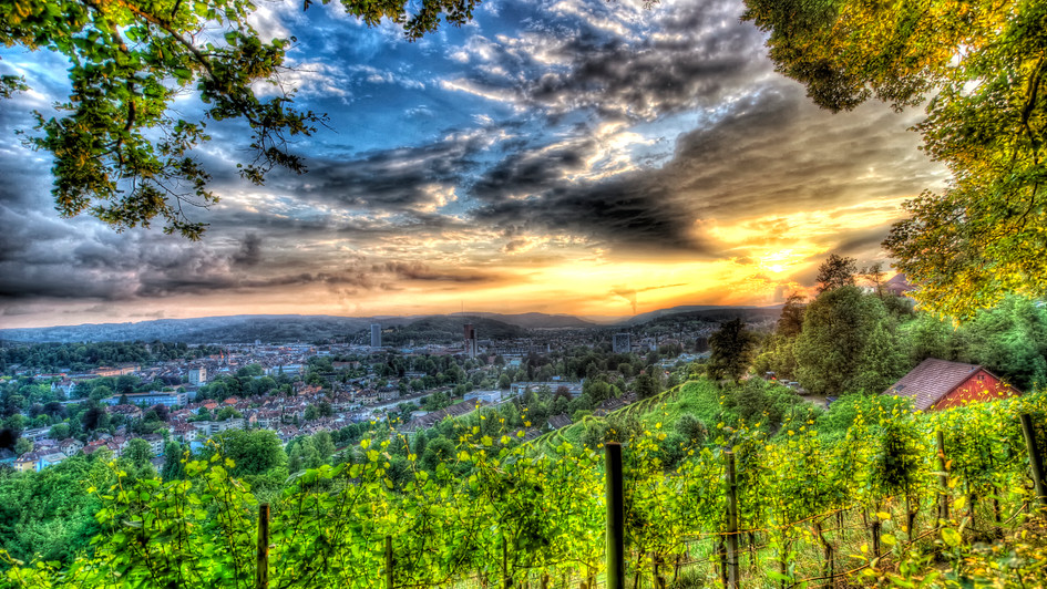 Winterthur at Dusk (HDR)