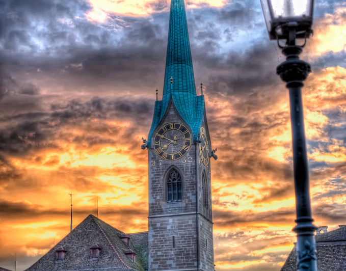 Fraumünster Zurich at Sunset (HDR) [Explored]