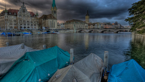 Limmatboats Before the Storm (HDR)