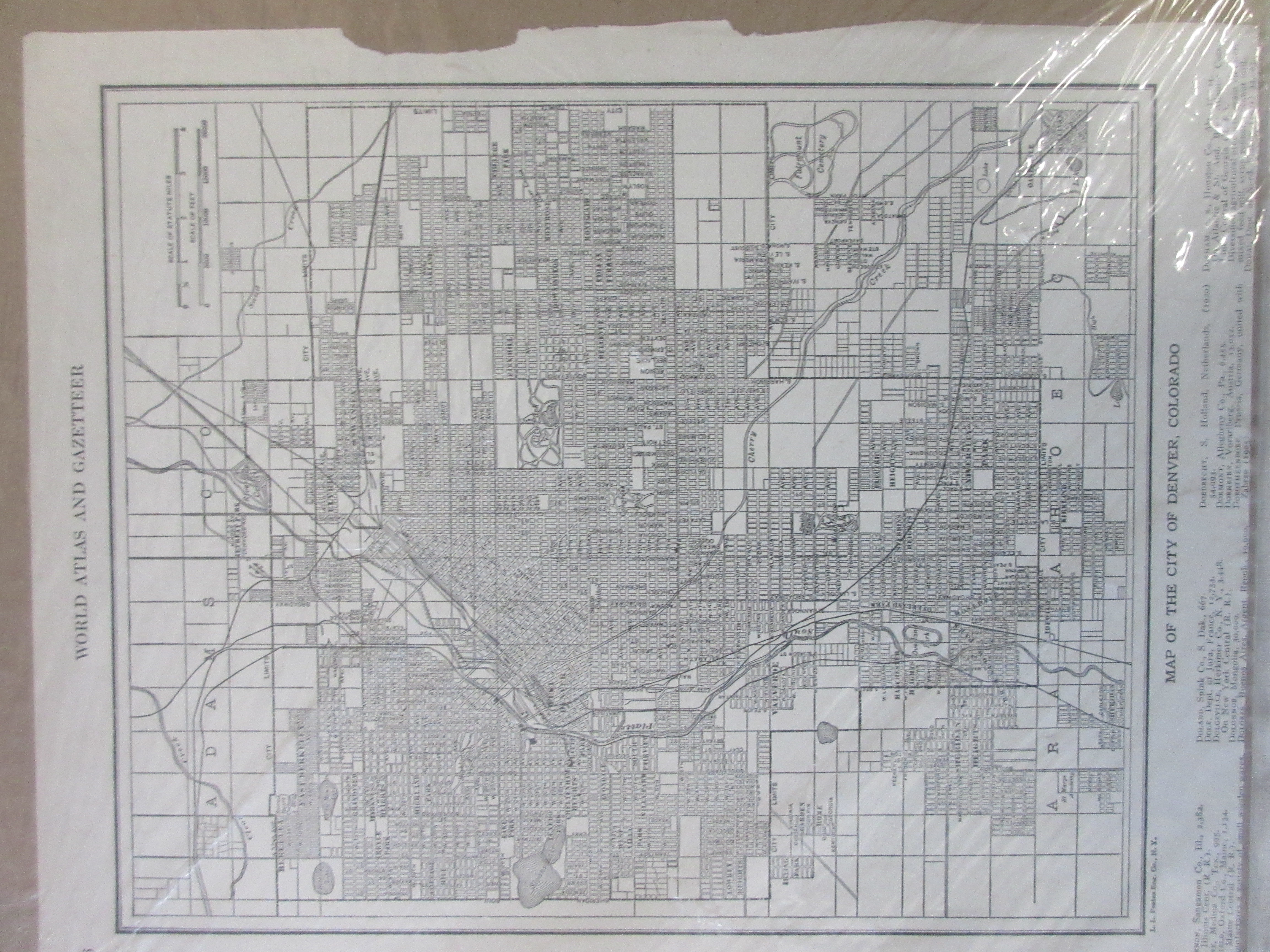 Denver, Colorado Map, 1925 By L.L. Poates | vintage-renovaters on