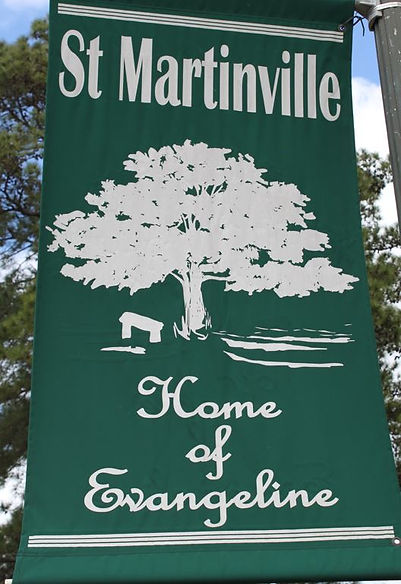 st martinville sign - home of evangeline.JPG