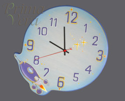 часы на тему космос  (D=30 см)