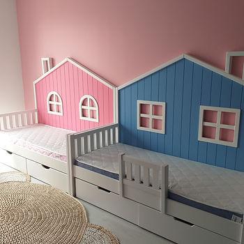 кровать-домик маленькая девочке мальчику