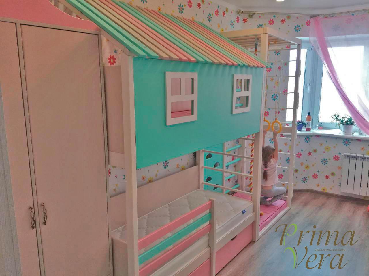 комната девочки с игровой зоной