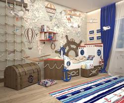 кровать мальчику лодка