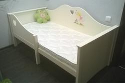 Кроватка София  в бежевом цвете с росписью (1)