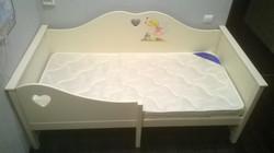 Кроватка София  в бежевом цвете с росписью (3)