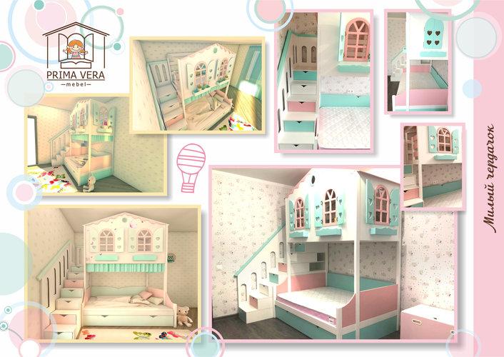 Кровать-домик для девочки Милый чердачок