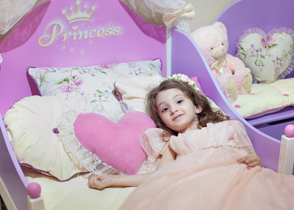 кроватка с текстилем Принцесса