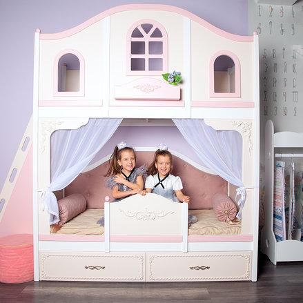 кровать в стиле принцесса девочке primav