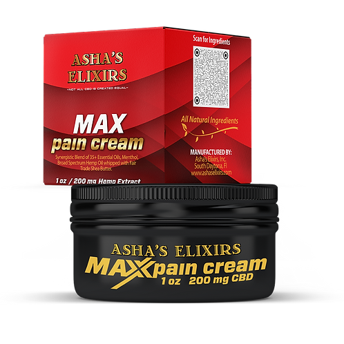 Max Pain Cream, 1oz: CBD & Essential Oil Infused Pain Cream