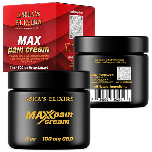 Asha's Elixirs MAX PAIN CREAM