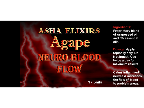 Asha's Agape Neuro Blood Flow Spray, 50ml