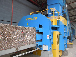 Presona-baler-in-place-at-Premier-Waste.
