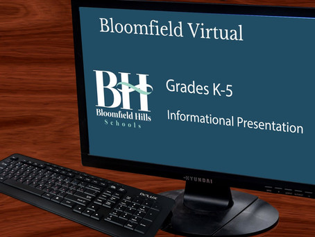 Bloomfield Virtual Information Night Recording