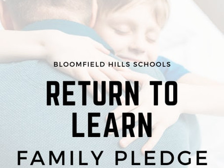 Return to Learn Family Pledge